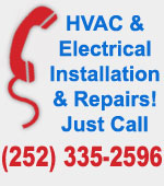 Call us for HVAC and Electrical Installation and Repairs